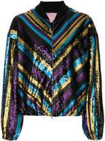 Giamba striped bomber jacket