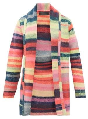 The Elder Statesman Italy Striped Cashmere Cardigan - Womens - Multi