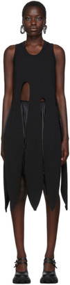 Comme des Garcons Black Long Tentacle Tank Dress