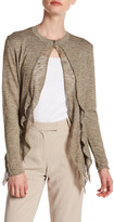 Lafayette 148 New York Tiered Ruffle Front Cardigan
