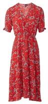 Dorothy Perkins Womens Izabel London Red Floral Print Wrap Dress, Red