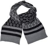 Michael Kors Metalic Scarf Circle Logo Dazzling Knit Black Grey