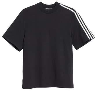 Y-3 White Stripe Crewneck T-Shirt
