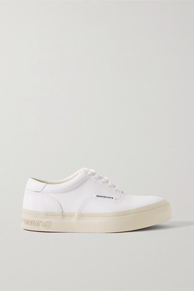 Alexander Wang Andy Textured-leather Sneakers - White