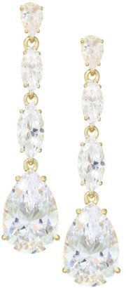 Adriana Orsini 18K Goldplated Sterling Silver Pear Linear Drop Earrings