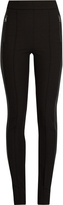 Moncler High-waisted contrast seam-panel leggings