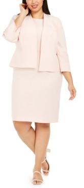 Le Suit Plus Kiss-Front Jacket Dress Suit