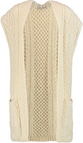 Valentino Cable-knit wool cardigan