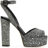 Giuseppe Zanotti Design Betty glitter platform sandals