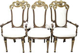 One Kings Lane Vintage French Gilded Chairs, S/6