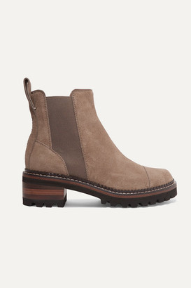 See by Chloe Suede Chelsea Boots - Taupe