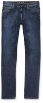 Canali Slim-fit Stretch-denim Jeans - Indigo