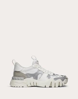 Valentino Camouflage Rockrunner Plus Sneaker Women White 100% Pelle Di Vitello - Bos Taurus 35