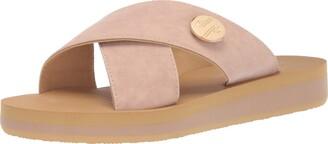 Lindsay Phillips Women's Lotus-Blush Slide Sandal 11 Regular US