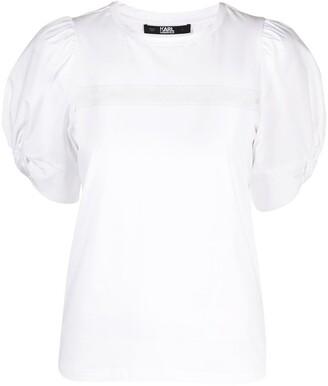 Karl Lagerfeld Paris puffy sleeve T-shirt