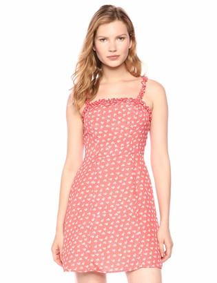 The Fifth Label Women's Kaleidoscope Ruffle Trim Sleeveless Aline Flare Short Dress
