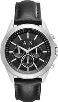 Armani Exchange Black Chronograph Black Silicone Strap Mens Watch