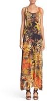 Fuzzi Women's Fern Print Tulle Maxi Dress