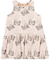 Bonnie Baby Camera-Print Cotton-Blend Dress