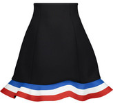 J.W.Anderson Orbit Hem Fluted Neoprene And Striped Coated Twill Mini Skirt