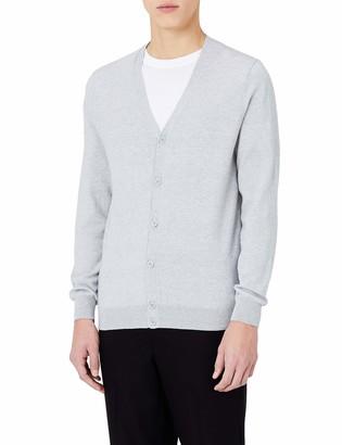 Meraki Amazon Brand Men's Lightweight Cotton V-Neck Cardigan