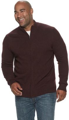 Croft & Barrow Big & Tall Extra Soft Full-Zip Sweater
