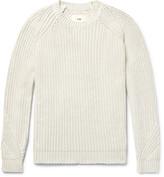 Folk Ribbed Stretch-Cotton Sweater