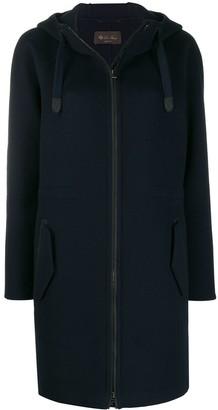Loro Piana Zipped Up Hooded Coat