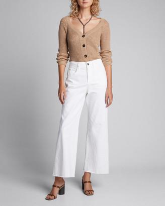 Brunello Cucinelli Garment-Dyed Wide-Leg Jeans