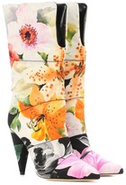 x Off-White Sara 100 floral jacquard boots