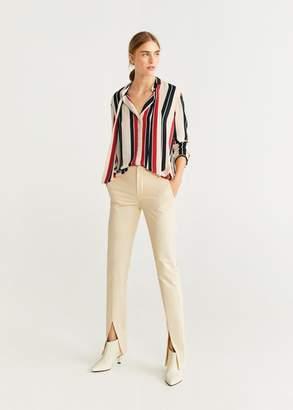 MANGO Flowy printed blouse red - 0 - Women
