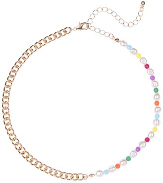 Free Press Organic Faux Pearl Chain Necklace