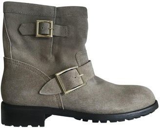 Jimmy Choo Camel Suede Ankle boots