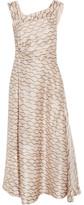 Isabel Marant Shari Printed Hammered-silk Midi Dress - FR36