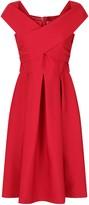 Evans **Chi Chi London Red Bardot Midi Dress