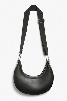 Monki Faux leather banana bag