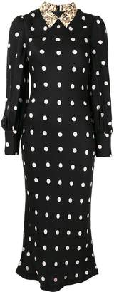 Rebecca Vallance Penelope polka-dot dress