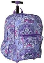 Vera Bradley Women's Lighten up Rolling Backpack