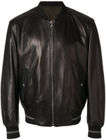Salvatore Ferragamo bomber jacket - men - Cotton/Lamb Skin/Polyester/Viscose - 50