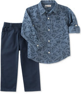 Kids Headquarters 2-Pc. Cotton Dinosaur-Print Shirt & Pants Set, Baby Boys (0-24 months)