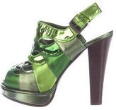 Bottega Veneta Metallic Platform Sandals