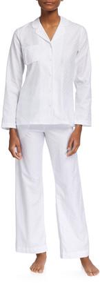 Derek Rose Kate 7 Polka Dot Cotton Jacquard Pajama Set