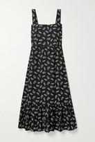 HVN Olympia Tiered Printed Cotton-poplin Midi Dress