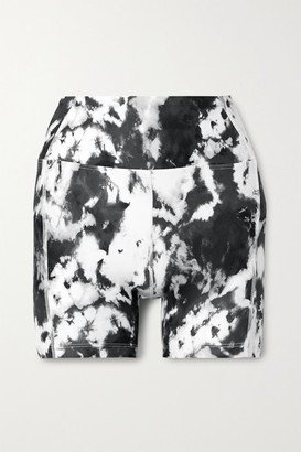 YEAR OF OURS Tie-dyed Stretch Shorts - Blue