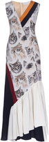 Stella McCartney Asymmetric cat-print sleeveless dress