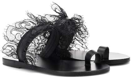 Ancient Greek Sandals Thalia lace-trimmed sandals
