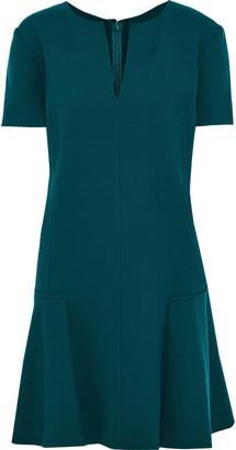 Oscar de la Renta Fluted Stretch-wool Crepe Mini Dress