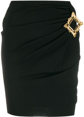 Moschino Gold Frame fitted mini skirt