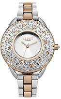 Lipsy Women's Quartz Watch with Silver Dial Analogue Display and Two Tone Alloy Bracelet LP476