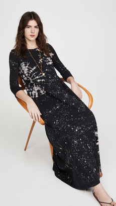 Raquel Allegra Half Sleeve Maxi Dress